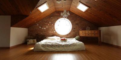 Piso de madera para dormitorio
