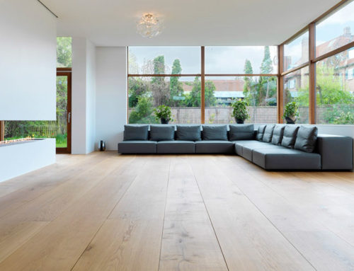 Decoración minimalista con pisos de madera